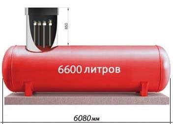 6600 литров