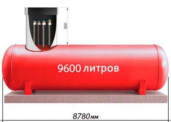 9600 литров